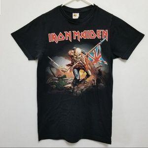 Retro Iron Maiden Trooper Black T-shirt Size Small